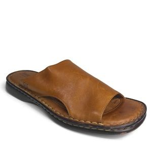 Born Sandals Light brown Flat Leather Slides
